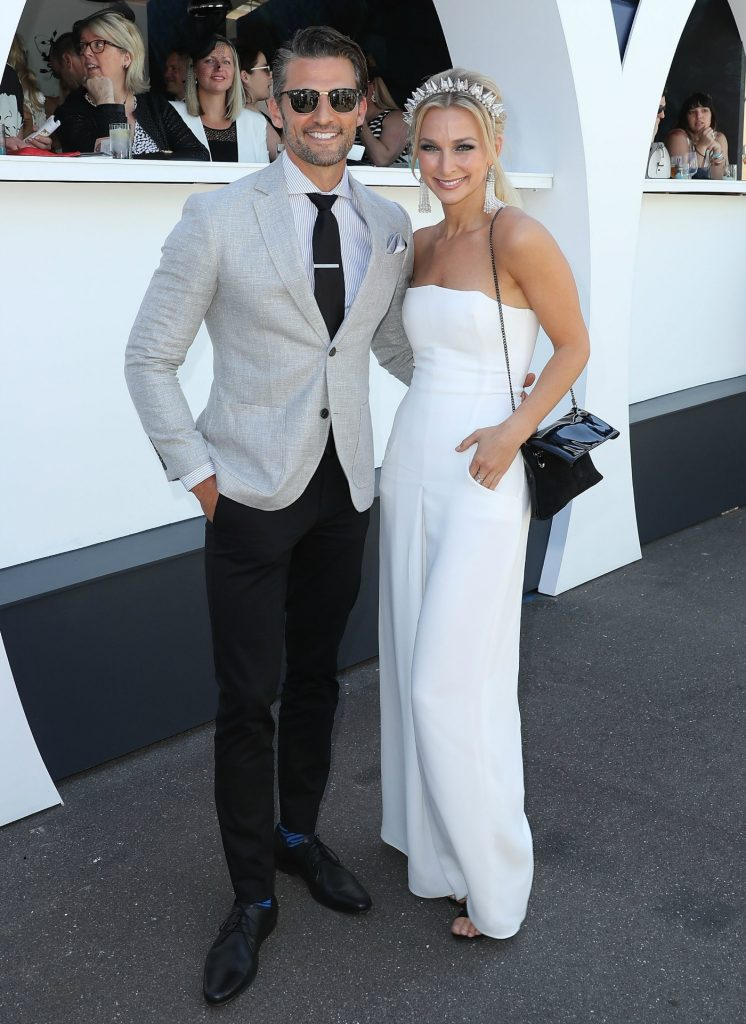 Tim Robard and Anna Heinrich, Marquee, on Derby Day at Flemington Racecourse on October 29, 2016 in Melbourne, Australia, theraces.com.au