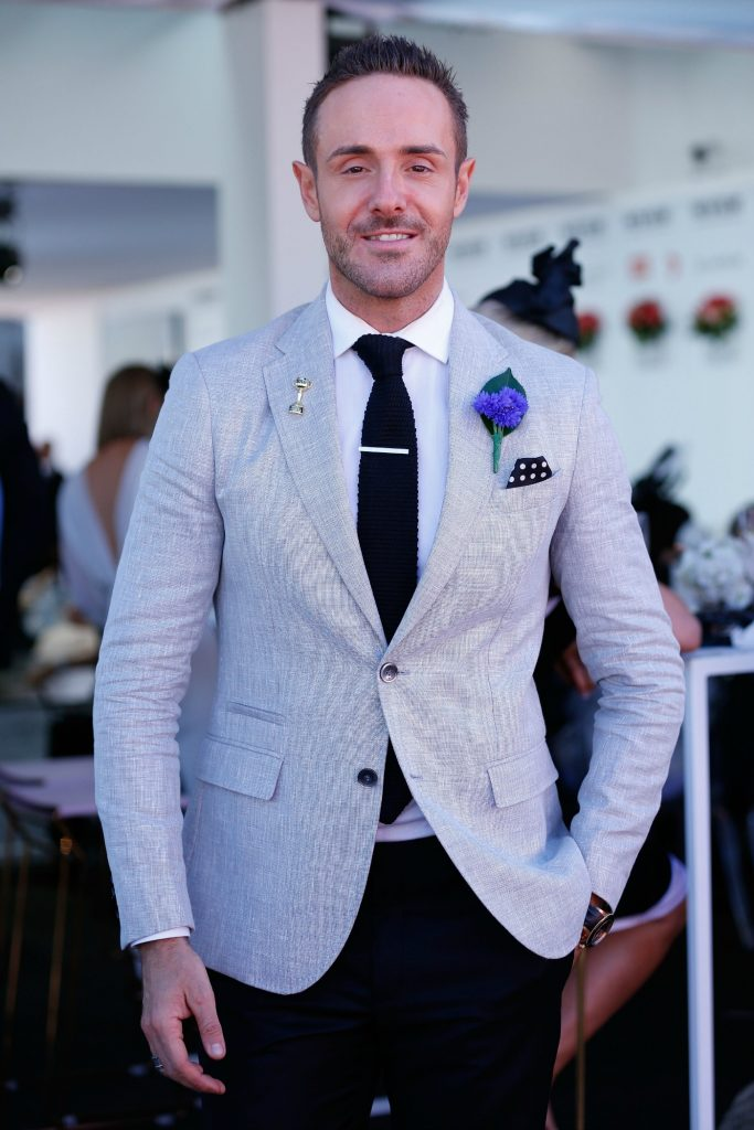 Donny Galella on Derby Day at Flemington Racecourse on October 29, 2016 in Melbourne, Australia, theraces.com.au
