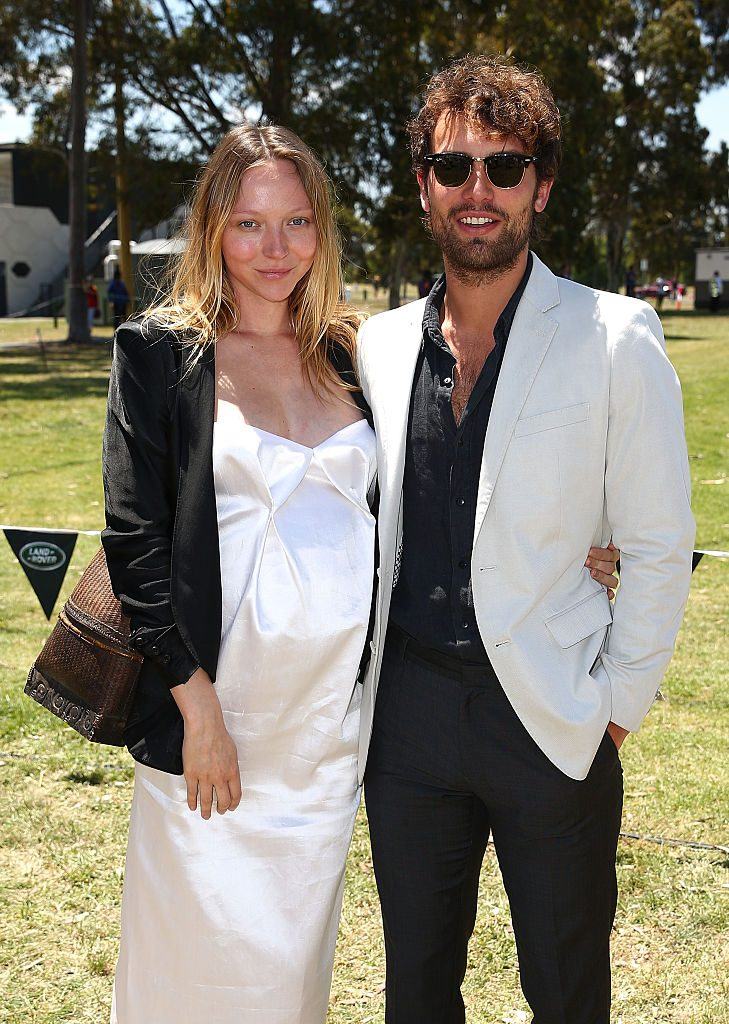 MELBOURNE, AUSTRALIA - NOVEMBER 28: Model Louise van der Vorst and her fiance, actor Jaime Robbie Reyne attend during Land Rover Polo In The City on November 28, 2015 in Melbourne, Australia. (Photo by Scott Barbour/Getty Images)