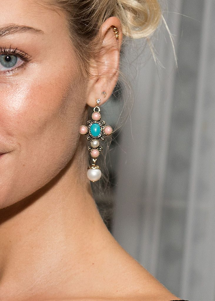 Jessica Hart earrings, Dior + The Boys' Club Of New York 68th Annual Fall Dance