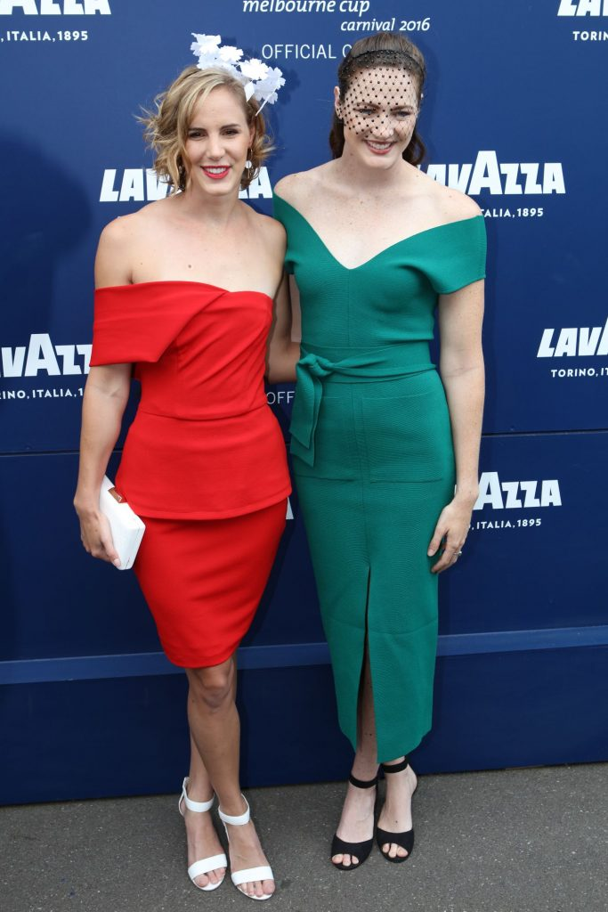Bronte sisters - Olympic gold medallists Bronte Campbell and Cate Campbell at the Melbourne Cup Carnival for Emirates Melbourne Cup Day on November 01, 2016 in Melbourne, Australia.