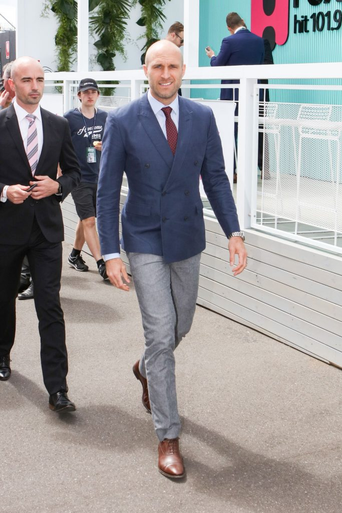Chris Judd at the Melbourne Cup Carnival for Emirates Melbourne Cup Day on November 01, 2016 in Melbourne, Australia