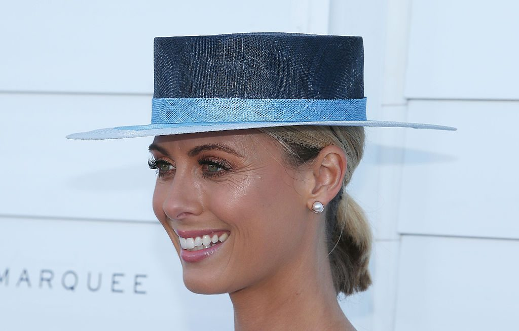 MELBOURNE, AUSTRALIA - NOVEMBER 03: Sylvia Jeffreys arrives at the Myer on Oaks Day at Flemington Racecourse on November 3, 2016 in Melbourne, Australia. (Photo by Scott Barbour/Getty Images)