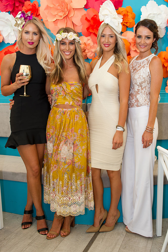 Brooke O'Keefe, Hayley Adcock, Aymee Lamb & Kylie Brown during Magic Millions Race Day at Gold Coast Racecourse on January 10, 2015 in Gold Coast, Australia.