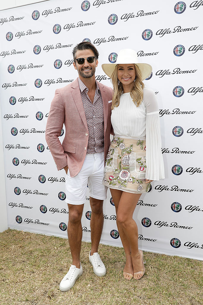 MELBOURNE, AUSTRALIA - JANUARY 14: Tim Robards and Anna Heinrich attend Portsea Polo on January 14, 2017 in Melbourne, Australia. (Photo by Sam Tabone/WireImage)