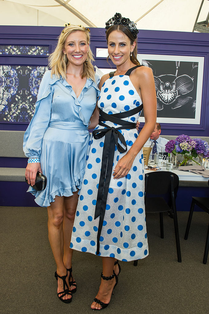 Channel 7 news presenter Angie Asimus and Magic Millions ambassador Amanda Abate