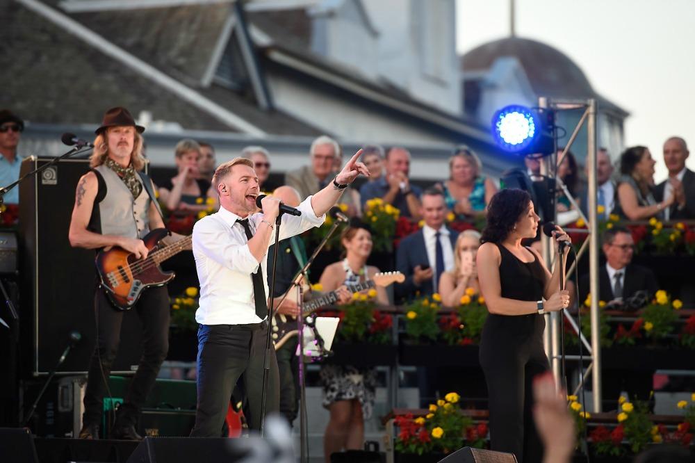 Ronan Keating performing live at Royal Randwick