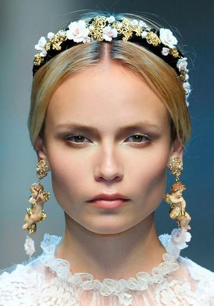 Dolce and Gabbana embellished headband