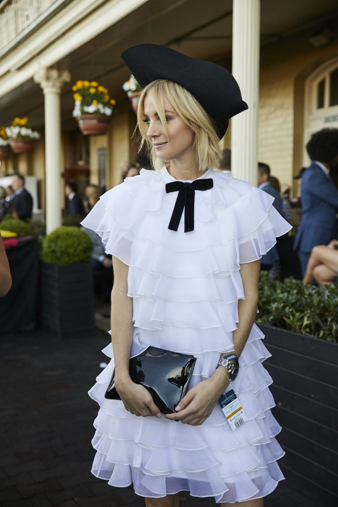 Nadia Fairfax at the races