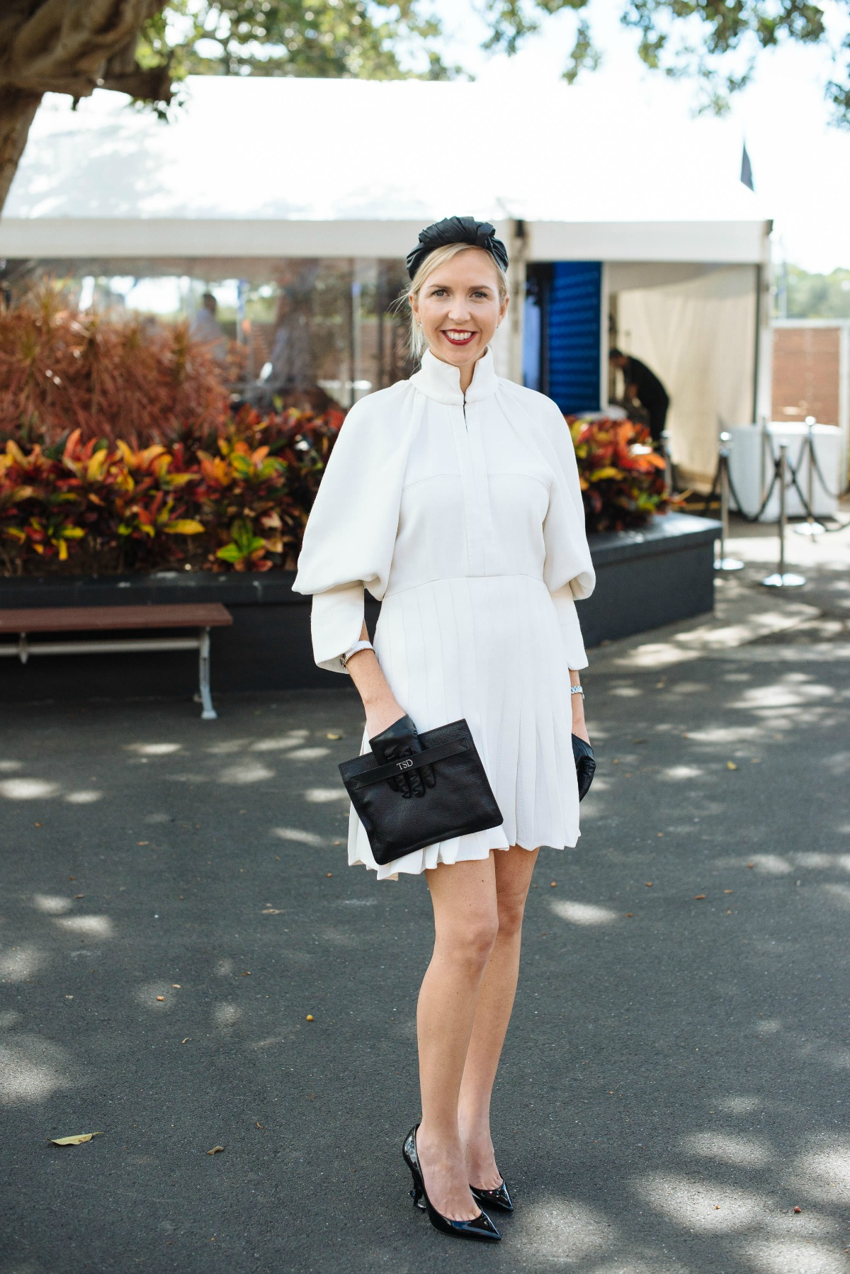 winner of the fashion chute kash o'hara's autumn racing outfit