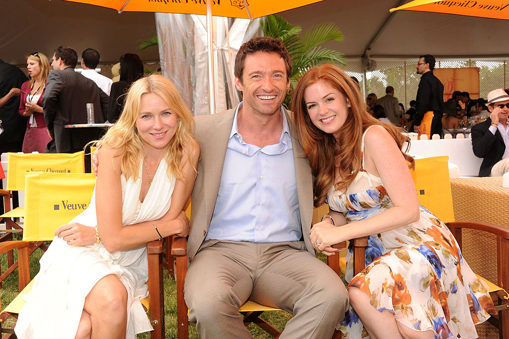 celebrities at the races. Naomi Watts, Hugh Jackman and Isla Fisher