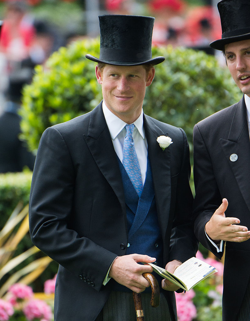 Celebrities at the races. Prince Harry