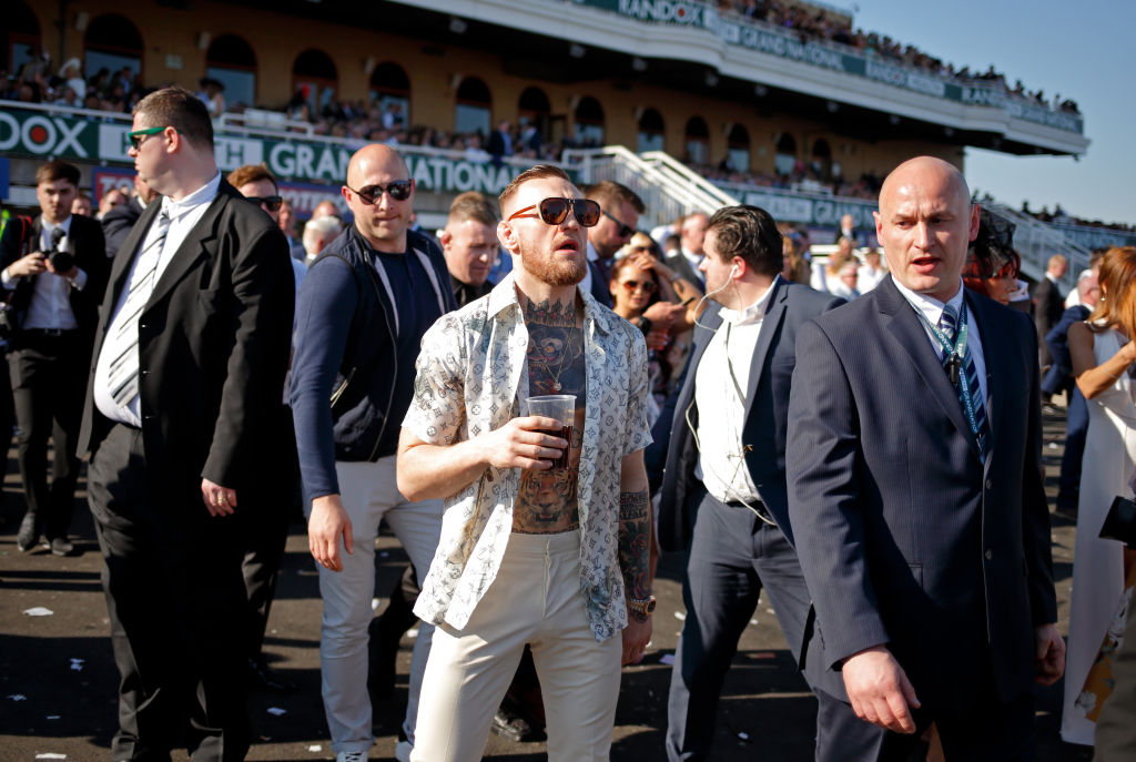 celebrities at the races. Conor McGregor.